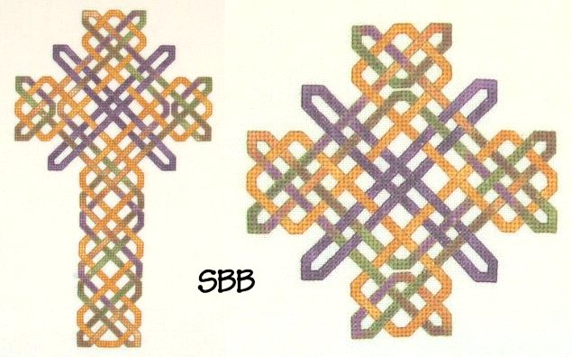 Clearance Dinky~Dyes Designs  More Knotwork Crosses