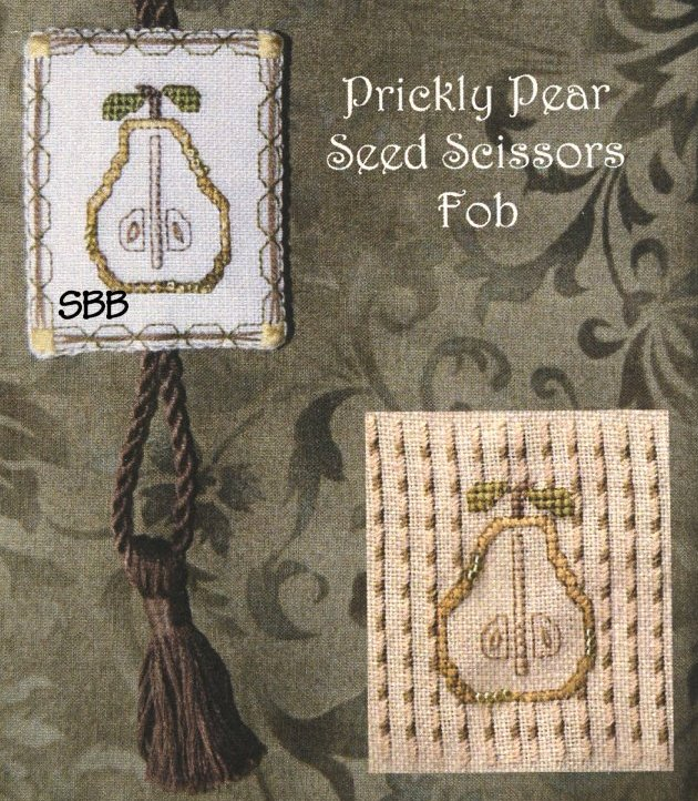 Clearance Jeannette Douglas Designs Prickly Pear Seed Scissors Fob Leaflet