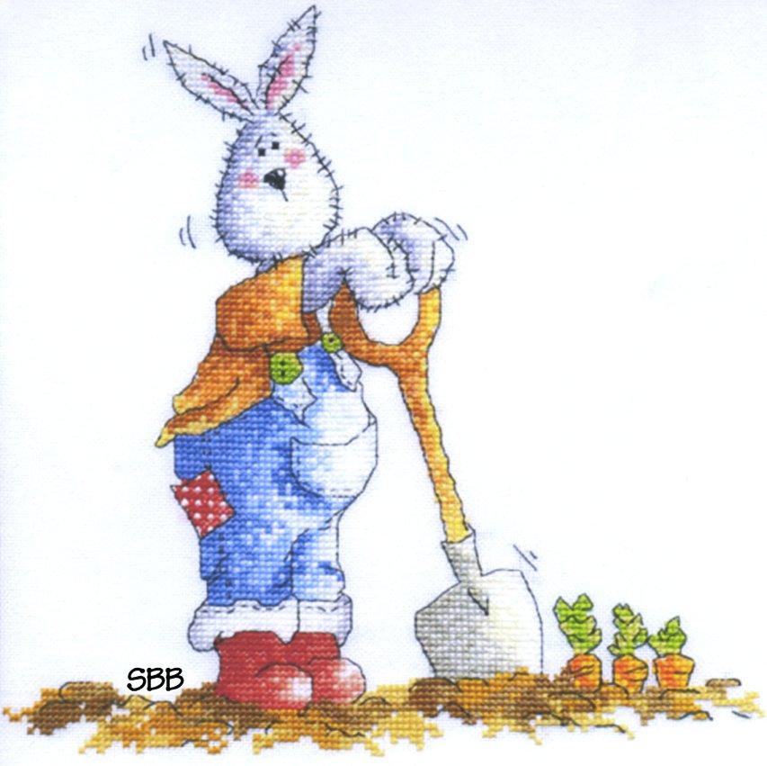 Clearance Polstitches Designs Gardening Rabbit