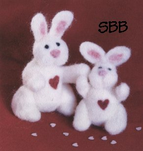 Clearance Teresa Layman Designs  Felted Bunny Complete Kit