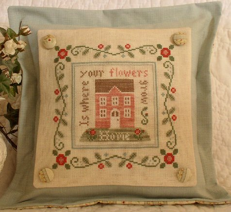 Country Cottage Needleworks Rose Cottage Pillow