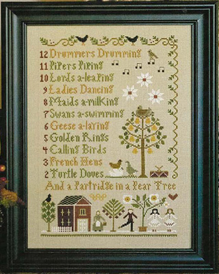 Clearance Little House Needleworks  12 Days Of Christmas