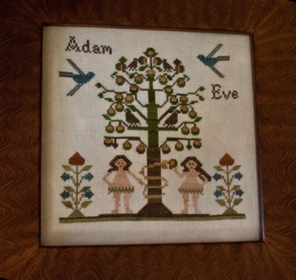 Clearance Little House Needleworks  Adam And Eve