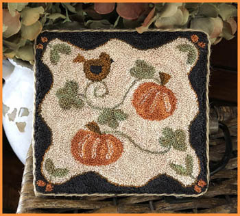 Clearance Little House Needleworks  Country Pumpkins Punchneedle