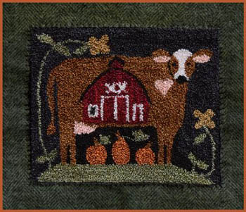 Clearance Little House Needleworks  Down On The Farm Punchneedle