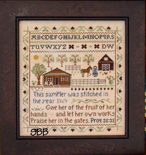 Clearance Little House Needleworks  Homestead Sampler