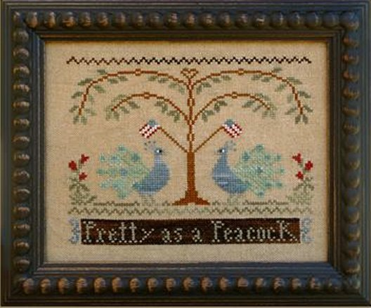 Clearance Little House Needleworks  Pretty As A Peacock