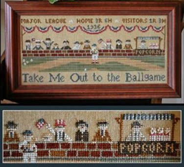 Clearance Little House Needleworks  Take Me Out To The Ballgame