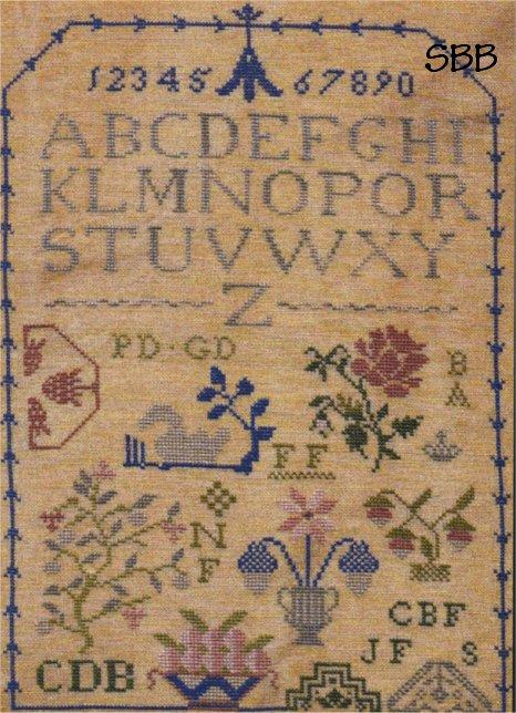 Clearance Little By Little Bell Flower Quaker Sampler
