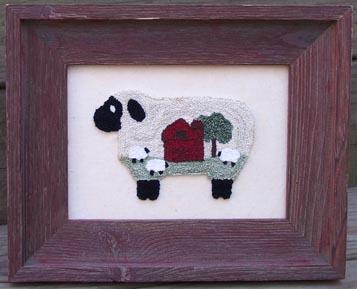 Clearance Myrtle Grace Motifs Baa Baa Barn Sheep Punchneedle