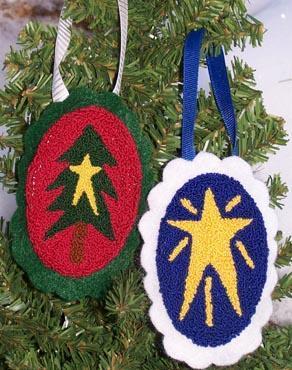 Clearance Myrtle Grace Motifs Christmas Doodads I Punchneedle