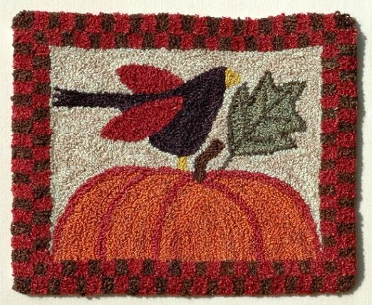 Clearance Myrtle Grace Motifs Crowing About Fall Punchneedle