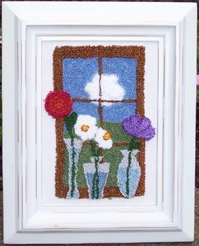 Clearance Myrtle Grace Motifs Flowerful View Punchneedle