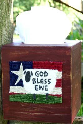 Clearance Myrtle Grace Motifs God Bless Ewe Punchneedle