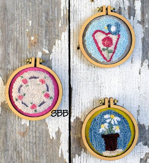 Myrtle Grace Motifs  Handmade With Love ~ Spring Punchneedle