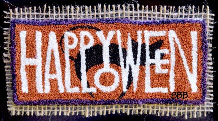 Clearance Myrtle Grace Motifs Happy Halloween Punchneedle