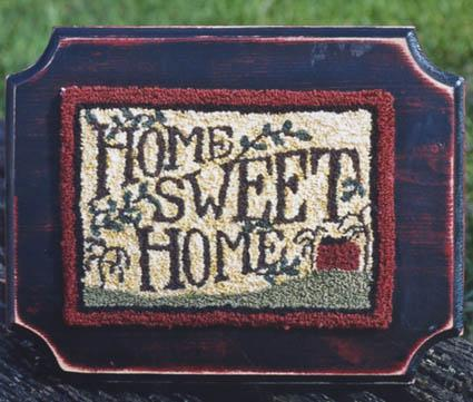 Clearance Myrtle Grace Motifs Home Sweet Home Punchneedle