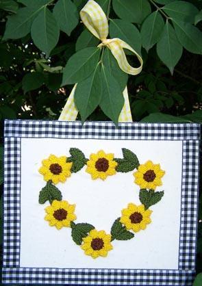 Clearance Myrtle Grace Motifs I Heart Sunflowers Punchneedle