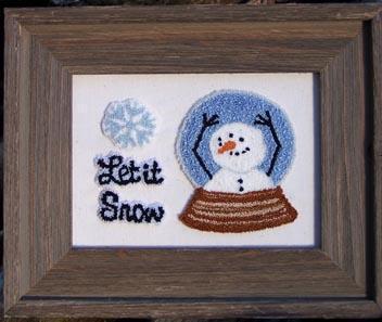 Clearance Myrtle Grace Motifs Let It Snow Punchneedle
