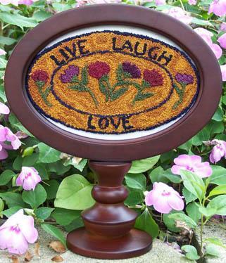 Clearance Myrtle Grace Motifs Live Love Laugh Punchneedle
