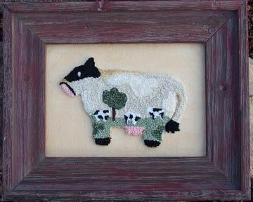 Clearance Myrtle Grace Motifs Moo Moo Field Cow Punchneedle
