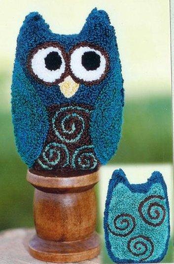 Clearance Myrtle Grace Motifs Ollie The Owl Punchneedle