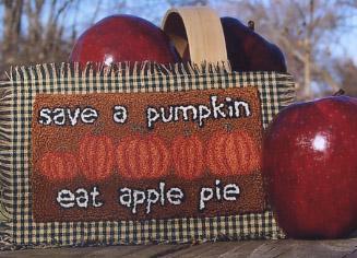 Clearance Myrtle Grace Motifs Save A Pumpkin Punchneedle
