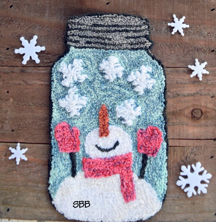 Clearance Myrtle Grace Motifs Snow Bottled Up Punchneedle
