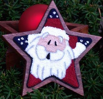 Clearance Myrtle Grace Motifs Super Star Santa Punchneedle