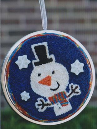 Clearance Myrtle Grace Motifs Tree Trimmers - Snowman Punchneedle
