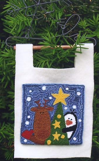 Clearance Myrtle Grace Motifs Tree Trimmin with Franklin & Pierce Punchneedle