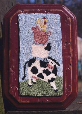 Clearance Myrtle Grace Motifs Up On The Farm Punchneedle