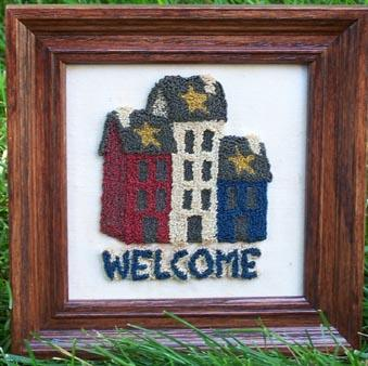 Clearance Myrtle Grace Motifs Welcome Home Punchneedle