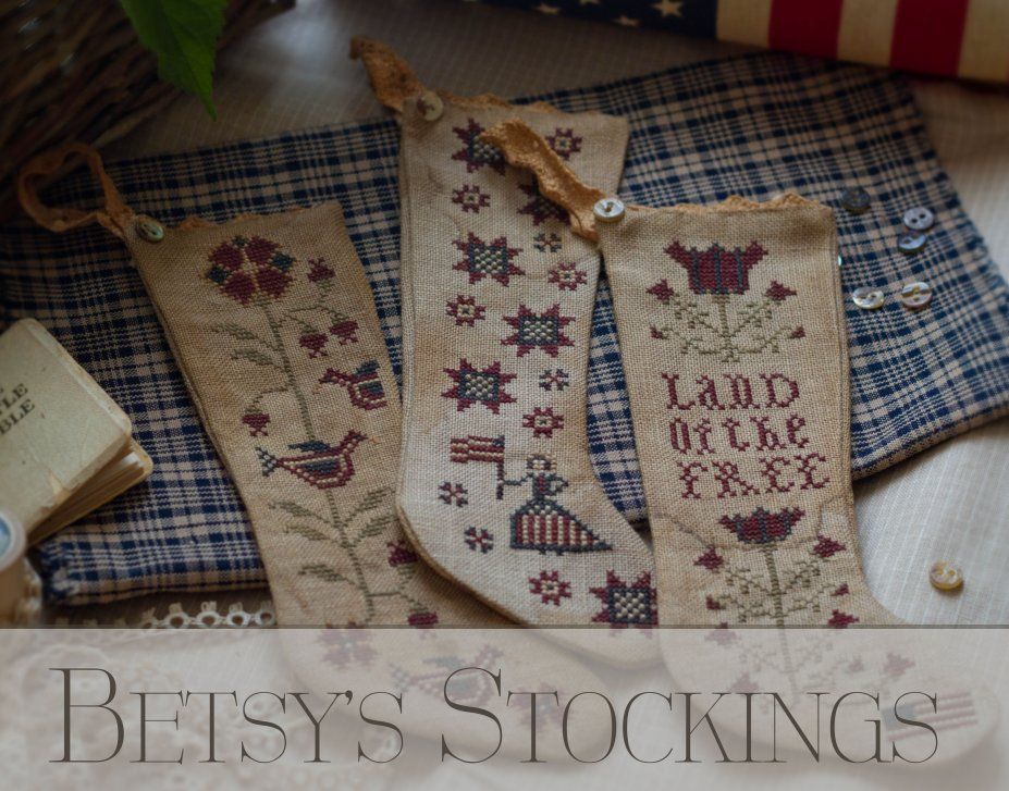Clearance Plum Street Samplers Betsy's Stockings