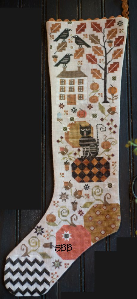 Clearance Plum Street Samplers Olga's Autumn Stocking