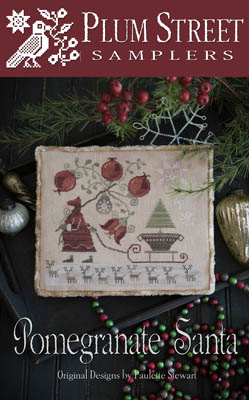 Clearance Plum Street Samplers Pomegranate Santa