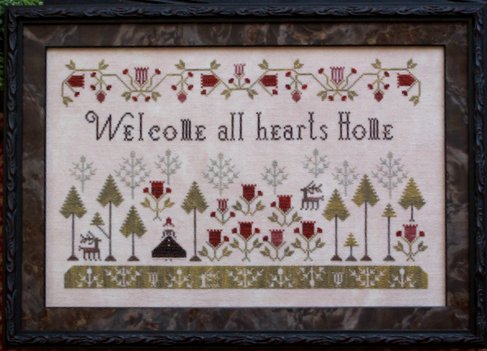 Clearance Plum Street Samplers Welcome All Hearts Home
