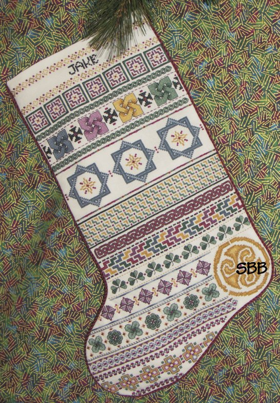 Clearance Rosewood Manor Designs Celtic Christmas Stocking