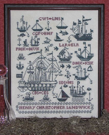 Clearance Rosewood Manor Designs Sailing Ships Sampler