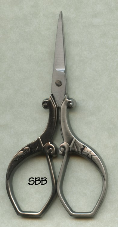 Clearance Scissors  Square Edged Antique Silver