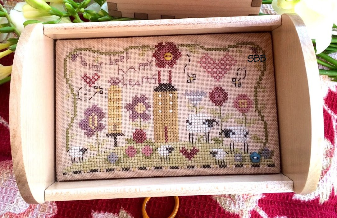 Clearance Shepherd's Bush Kits Busy Bees Stitching Tray