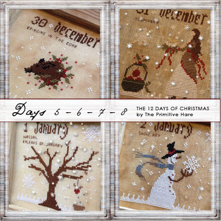 Clearance The Primitive Hare12 Days Of Christmas 5-8