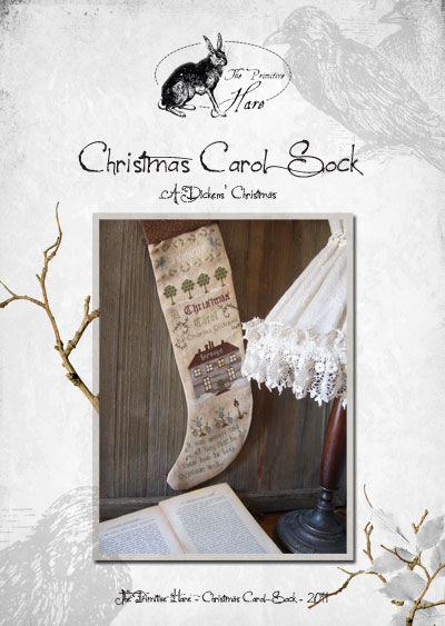 Clearance The Primitive Hare Christmas Carol Sock