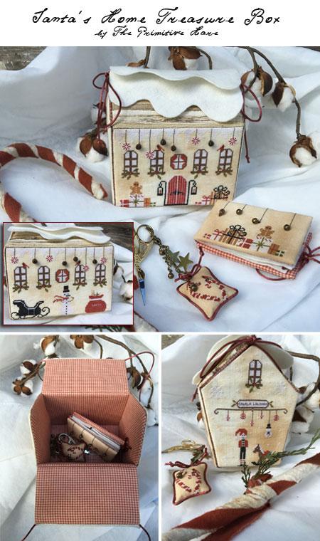Clearance The Primitive Hare Santa's Home Treasure Box