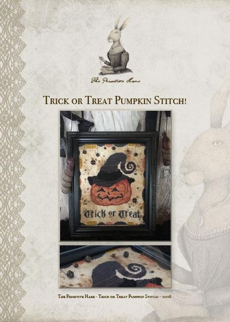 Clearance The Primitive Hare Trick Or Treat Pumpkin Stitch