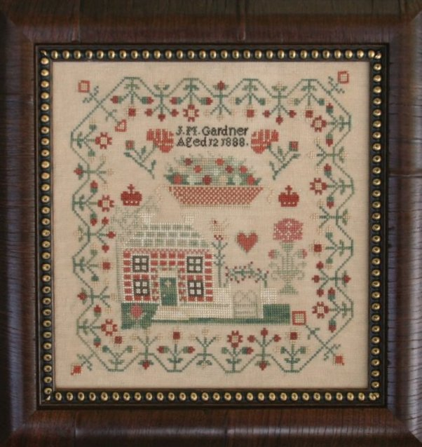 Clearance With Thy Needle CTS100 J M Gardner1888 Reproduction Sampler