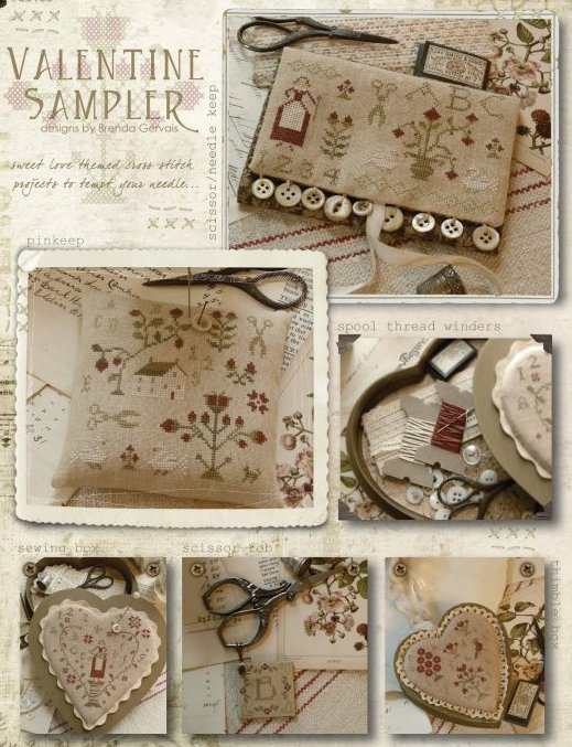 Clearance With Thy Needle CTS105 Valentine Sampler