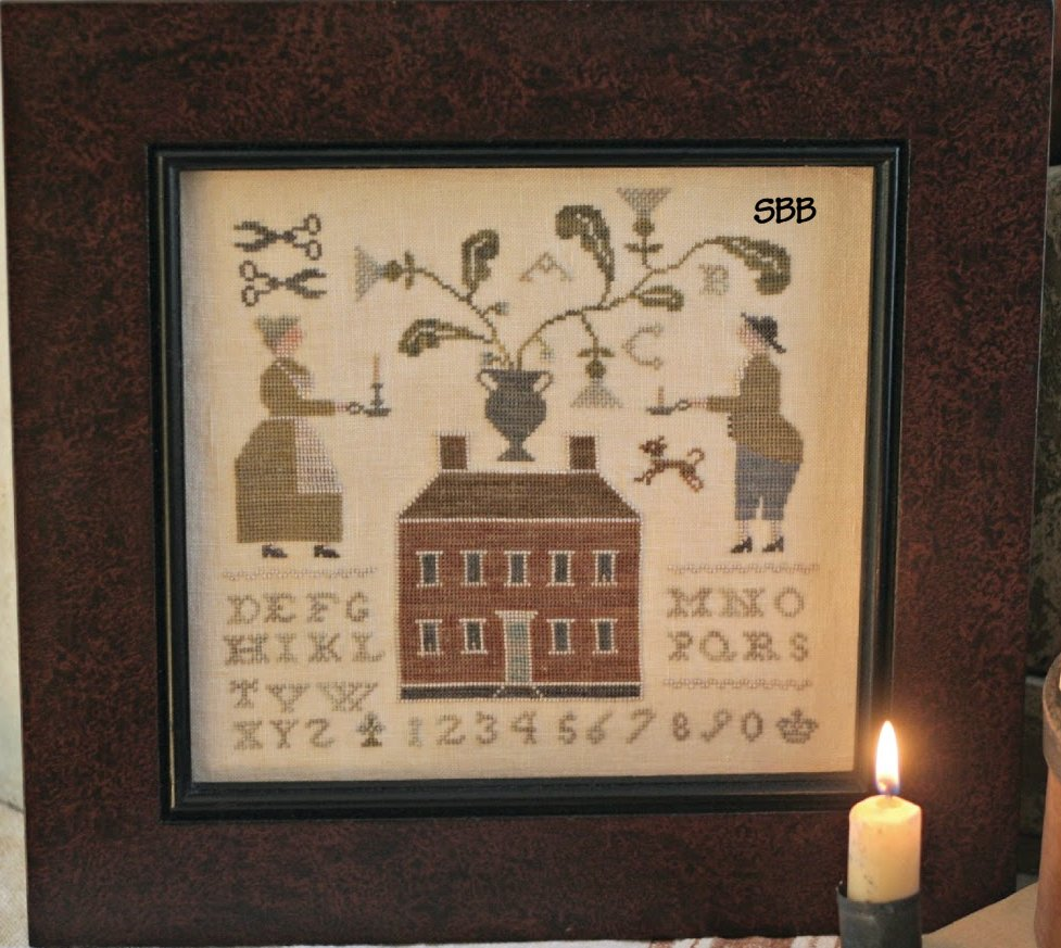Clearance With Thy Needle CTS107 The Candlestick Maker Sampler