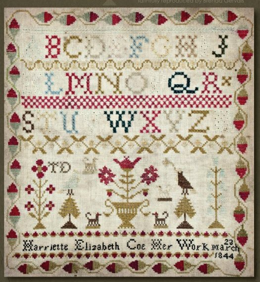 Clearance With Thy Needle CTS123 Harriette Elizabeth Coe 1844