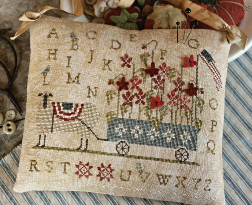 Clearance With Thy Needle CTS133 Patriotic Poppies